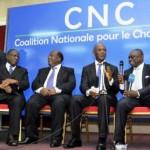Cérémonie de signature de la charte la Coalition Nationale pour le Changement (CNC)
