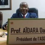 Conférence de presse du Président de l'ASCAD du Prof.AIDARA Douada