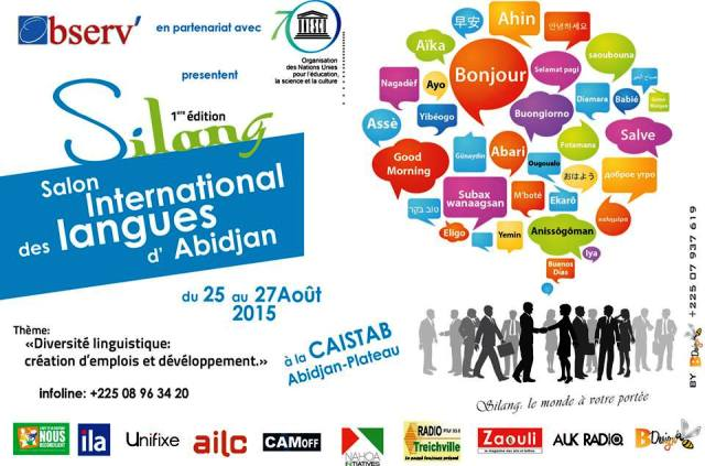 Salon Internationales des Langues d'Abidjan du 25 au 27 AoûT 2015