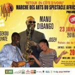 COMMUNIQUE DE PRESSE MASA 2016: ''Retour en Côte d'Ivoire''Manu Dibango à Abidjan