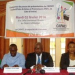 Conférence de presse de CAPACI (Collectif des artistes et promoteurs d'Arts de Côte D'ivoire)