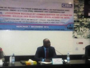 Cohésion sociale et consolidation de la paix en côte d'ivoire: enjeux des élections législatives de 2016