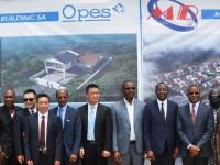 Projet immobilier MINGDA OPES BUILDING SA de Modeste (Grand-Bassam)/Pose de la 1ère pierre par JIANGSU Entrepreneurs Union (Groupe chinois) et OPES Holding