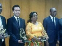 M.BOURGI KHODOR DG de LGI BTP et vice president de la CNPC-CI (chambre nationale des promoteurs et constructeurs agréés de  cote d'ivore) reçoit le prix special panafricain du meilleur promoteur et constructeur immobilier de cote d'ivoire.