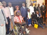 Cérémonie de lancement du projet du projet d'amélioration de l'employabilité de 304 personnes en situation de Handicap par la formation et l'insertion en entreprise.