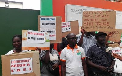 AGENCE EMPLOI JEUNES : « MANIFESTATION DES 80 AGENTS ABUSIVEMENT LICENCIES »