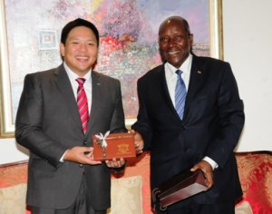 Le vice-Président de la République a reçu en audience le président mondial de la Jeune Chambre Internationale