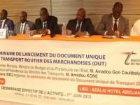 Lancement à Abidjan du Document unique de transport (DUT)