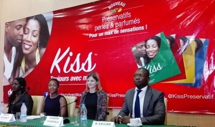 Campagne de lancement des préservatifs ''KISS''