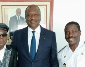 Célébration de ses 45 ans de carrière: l'artiste Bailly Spinto reçu par le Ministre d'État,Ministre de la défense Hamed Bakayoko