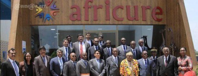 Cérémonie d'inauguration de l'usine pharmaceutique Africure sur le site du VITIB