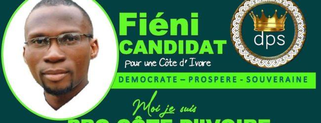 Élection présidentielle 2020 : le jeune Fiéni anonce sa candidature pour le 31 Octobre prochain