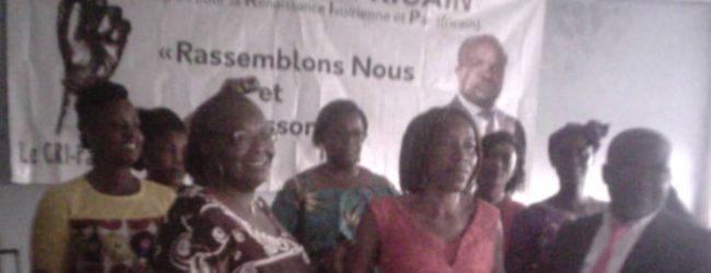 Congrès pour la renaissance ivoirienne et panafricaine (CRI panafricain):la présidente des femmes investie