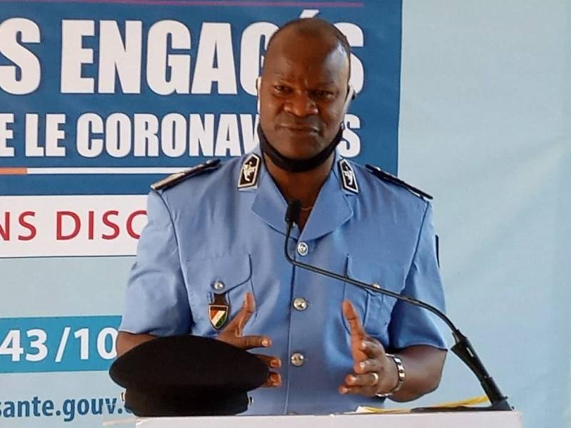 Point de presse du lundi 15 juin 2020 : le commissaire divisionnaire , porte parole de la police nationale BLEU CHARLEMAGNE donne le bilan à mi parcours de la politique sécuritaire.