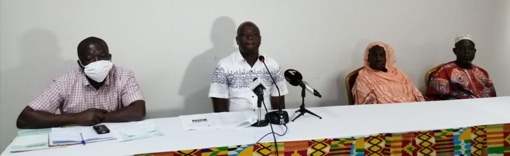 Conférence de presse des planteurs d'Anacarde (noix de cajou) du Hambol, membre des coopératives foulées par la société «Ucab-CI de M. Bamba Adama.