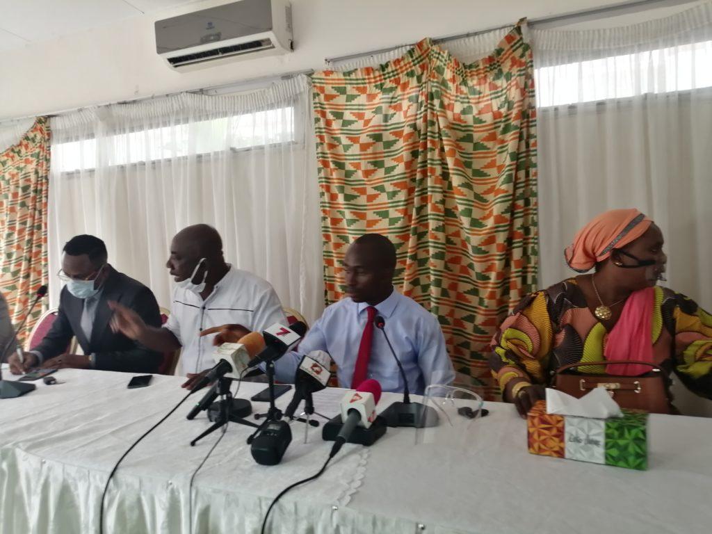 Conférence de Presse de Présentation du Mouvement Politique 'AGIR POUR LA NATI0N' en date du mardi 18 août 2020