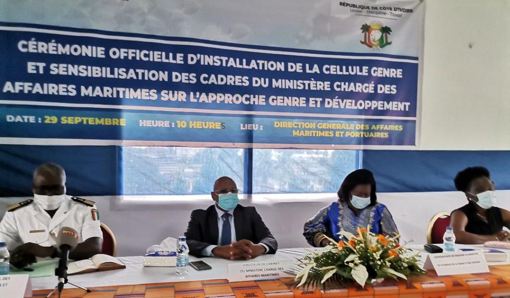 Cérémonie officielle d'installation de la cellule genre et sensibilisation des Cadres du ministère chargé des affaires Maritimes sur l'approche genre et développement