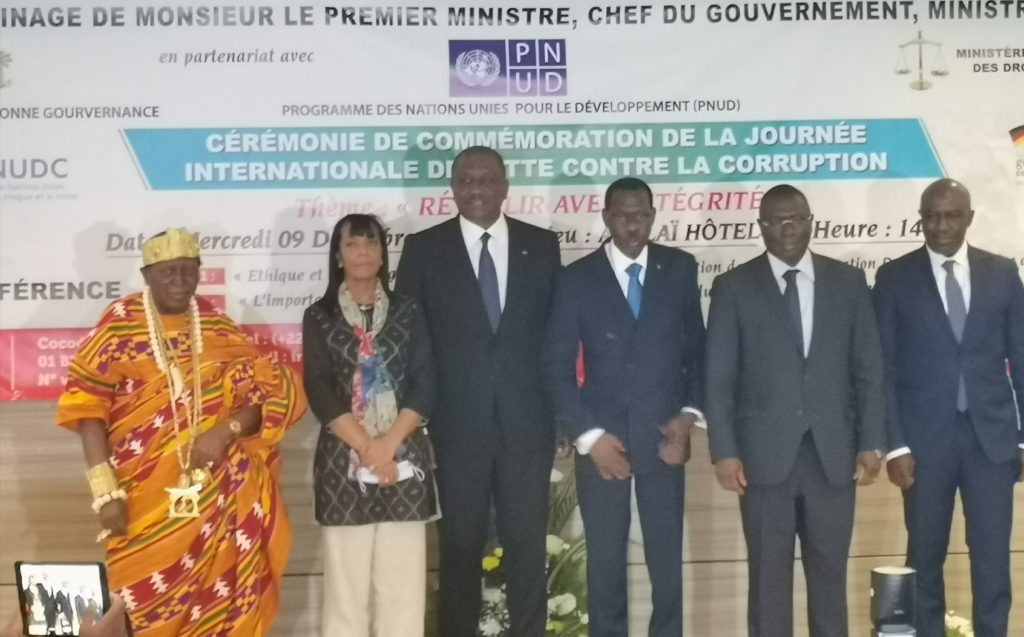 Côte d'Ivoire :Cérémonie de célébration de la journée internationale de lutte contre la corruption.