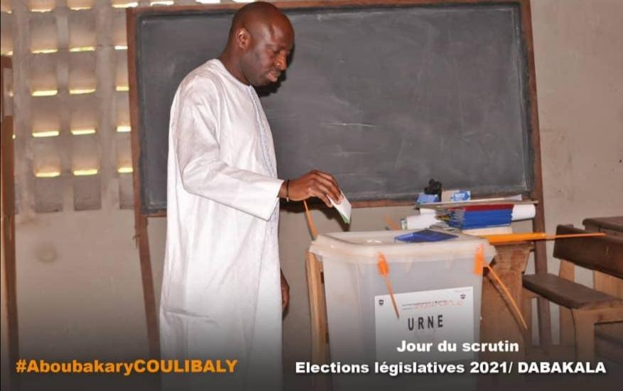 Législatives 2021 à Dabakala :Aboubakary Coulibaly a accompli son devoir citoyen