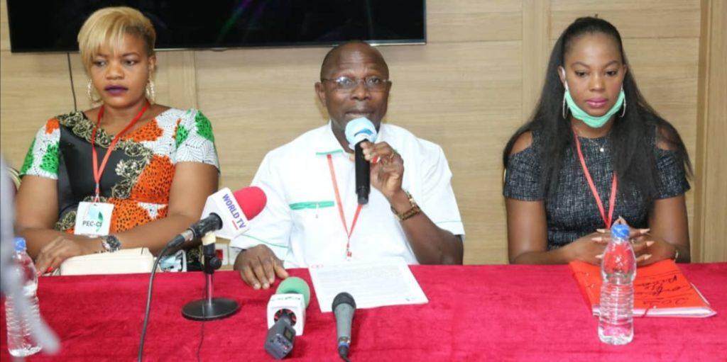 Côte d'Ivoire /Situation Socio-politique : EBRIN YAO REMI Président du Comité Exécutif de la Plate-forme pour l'Engagement Citoyen de Côte d'Ivoire (PEC-CI) , et ses 35 Organisations de la Société Civile  se prononce…