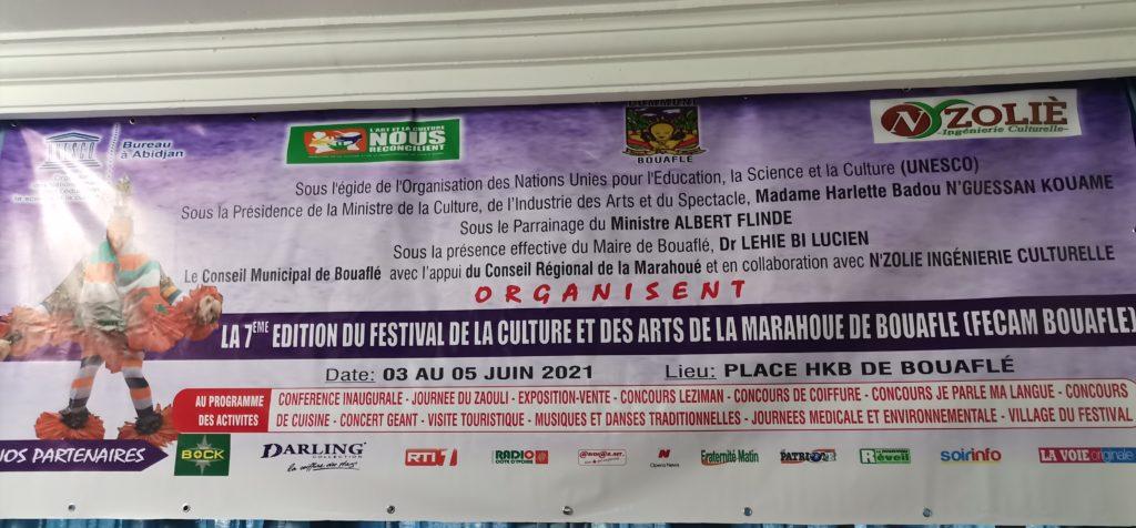Lancement du Festival de la Culture et des Arts de la Marahoué de Bouaflé (FECAM Bouaflé) ( 03,04,05 juin 2021).
