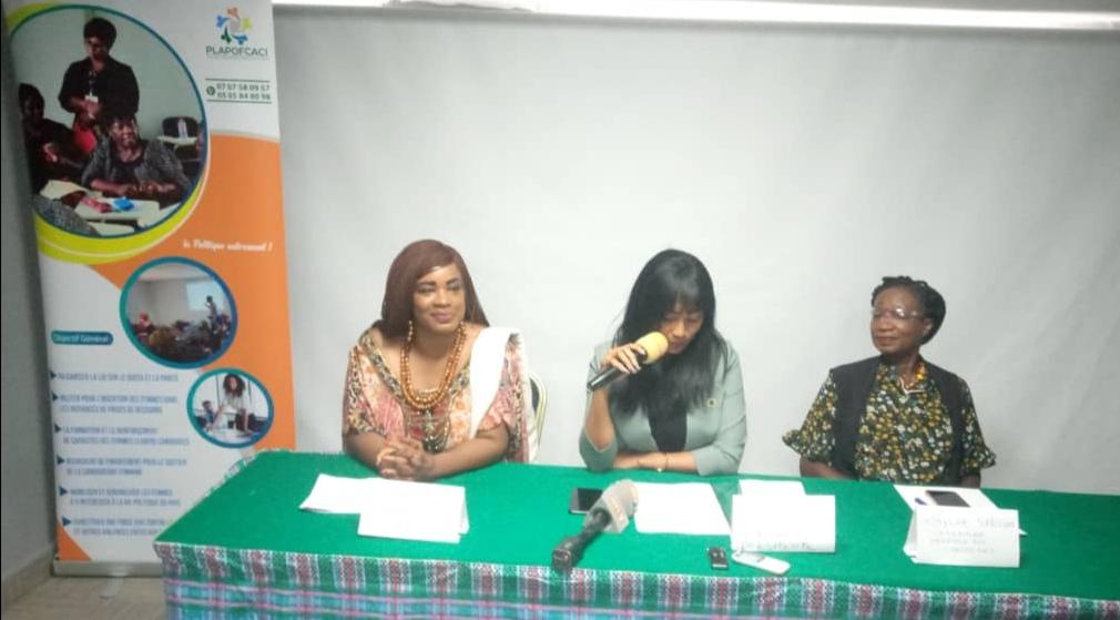 Conférence de presse de la Plateforme Politique des Femmes Candidates de Côte d'ivoire en abrégé PLAPOFCACI.