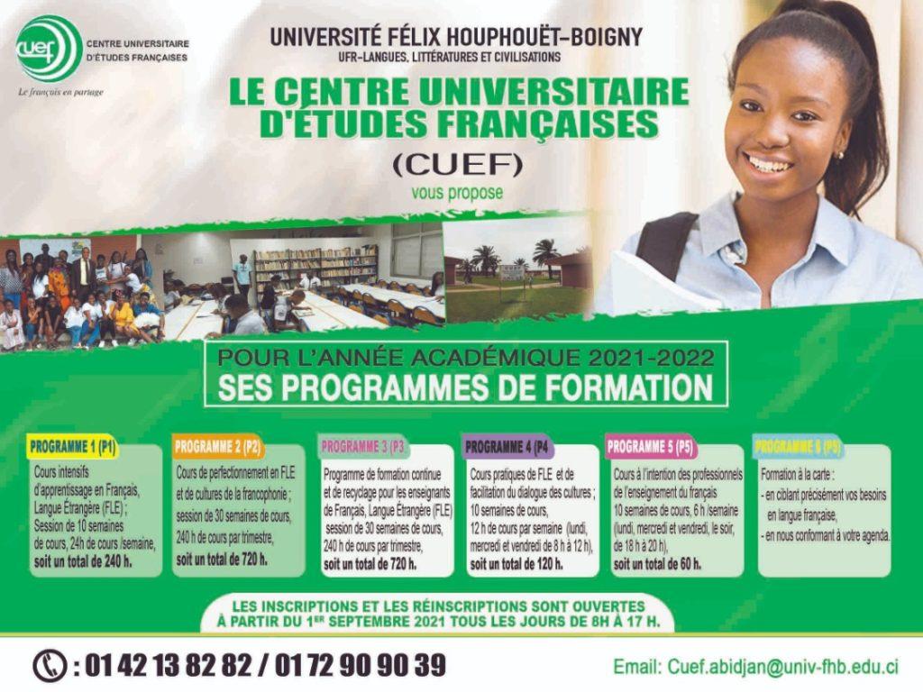 Rentrée académique 2021-2022 au CUEF