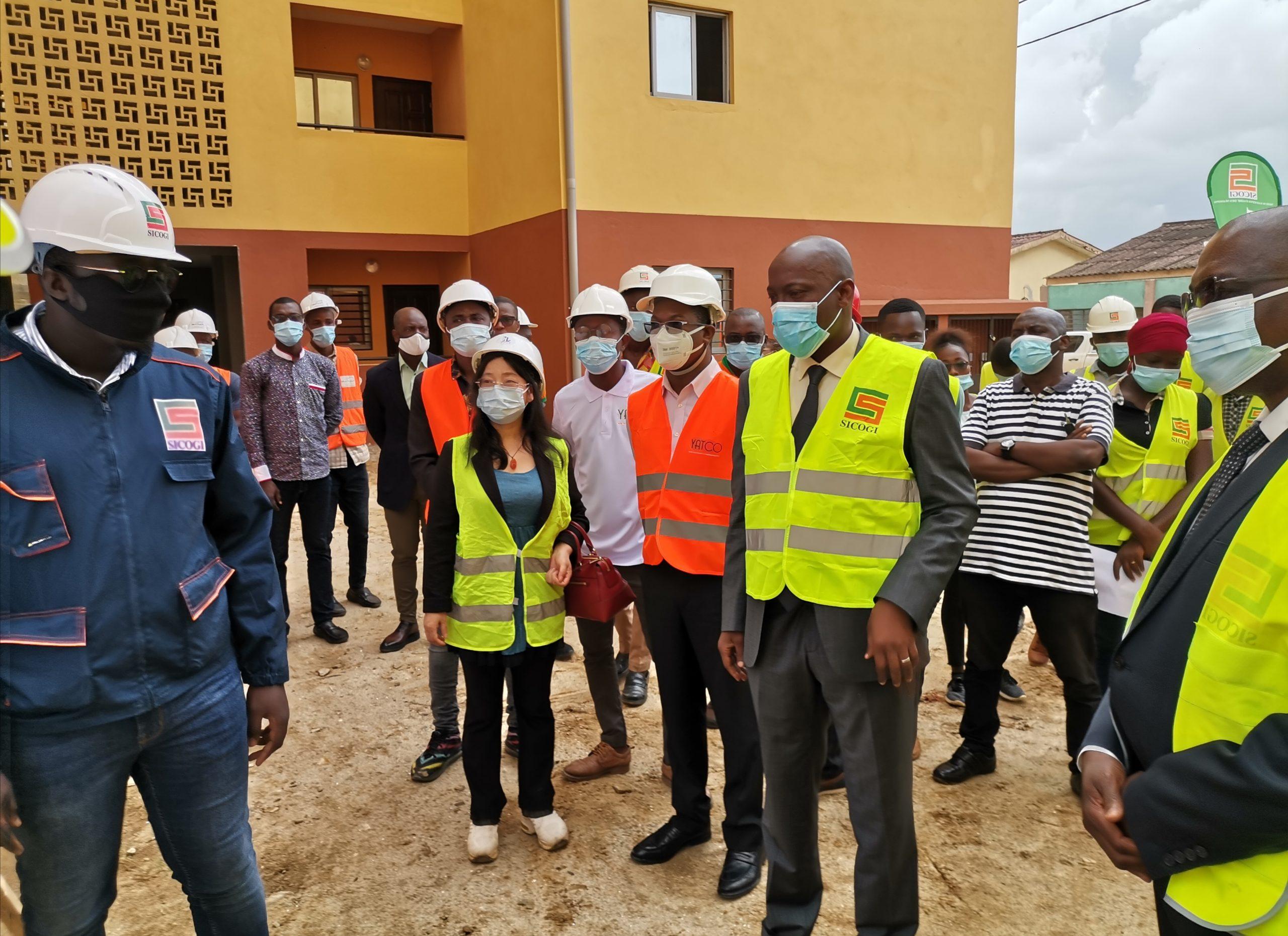 Côte d'Ivoire :Le Directeur Général de la SICOGI visite le chantier du programme immobilier Concorde 3 sis à Abobo PK18 route d'Anyama