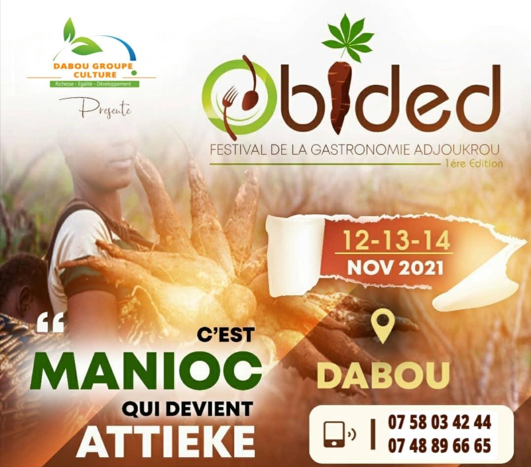 Festival de la Gastronomie Adjoukrou : Obided Festival 1ère édition.